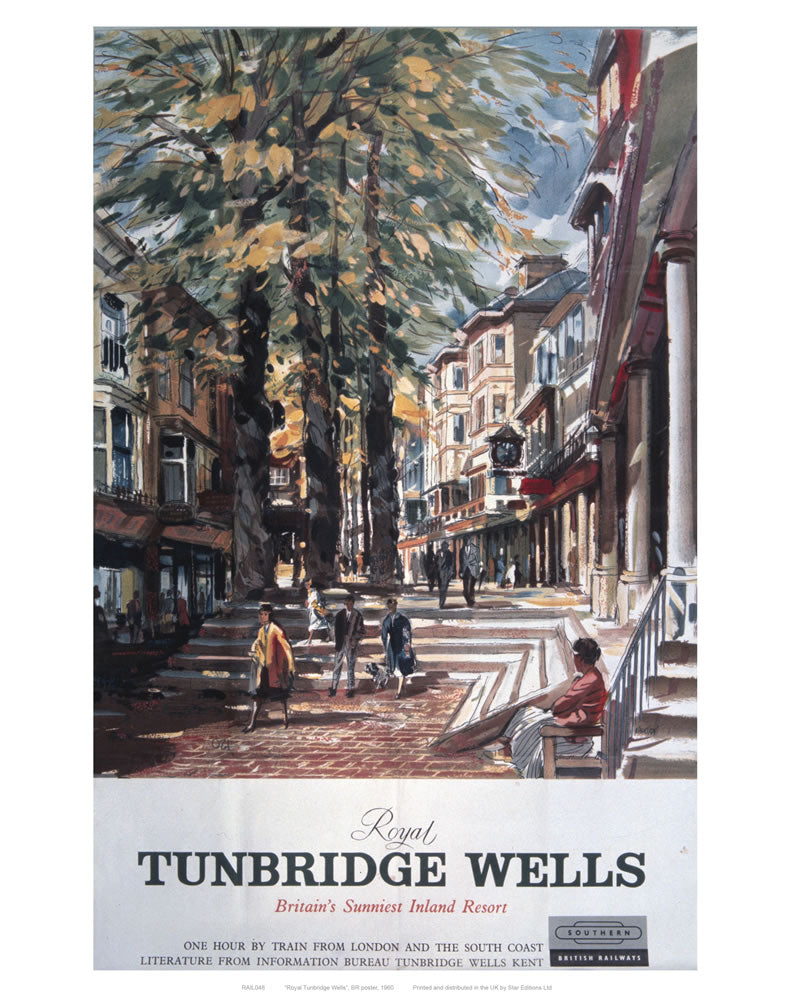 "Royal Tunbridge Wells Street 24"" x 32"" Matte Mounted Print"