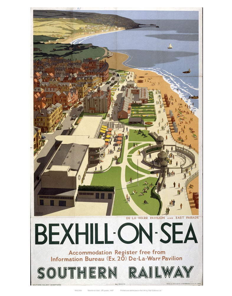 "Bexhill-on-sea 24"" x 32"" Matte Mounted Print"