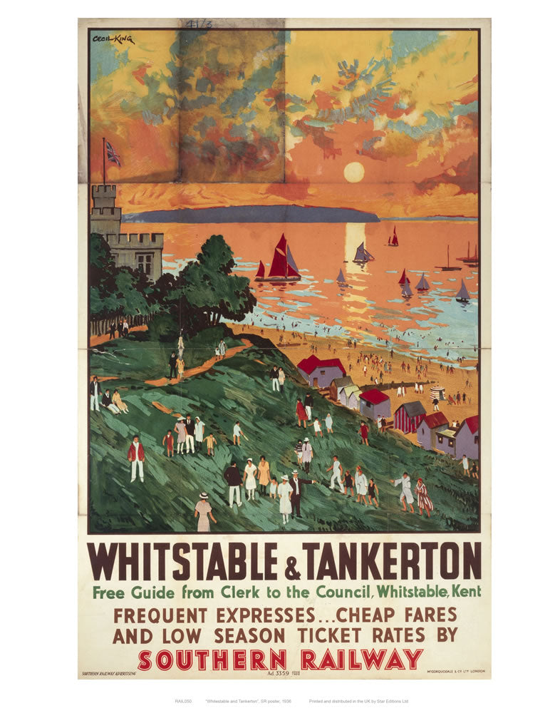 "Whitstable and Tankerton 24"" x 32"" Matte Mounted Print"