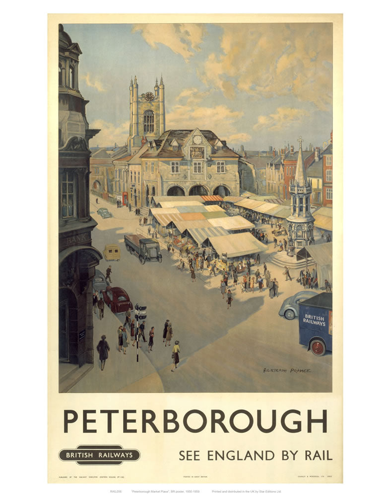 "Peterborough View of Market 24"" x 32"" Matte Mounted Print"