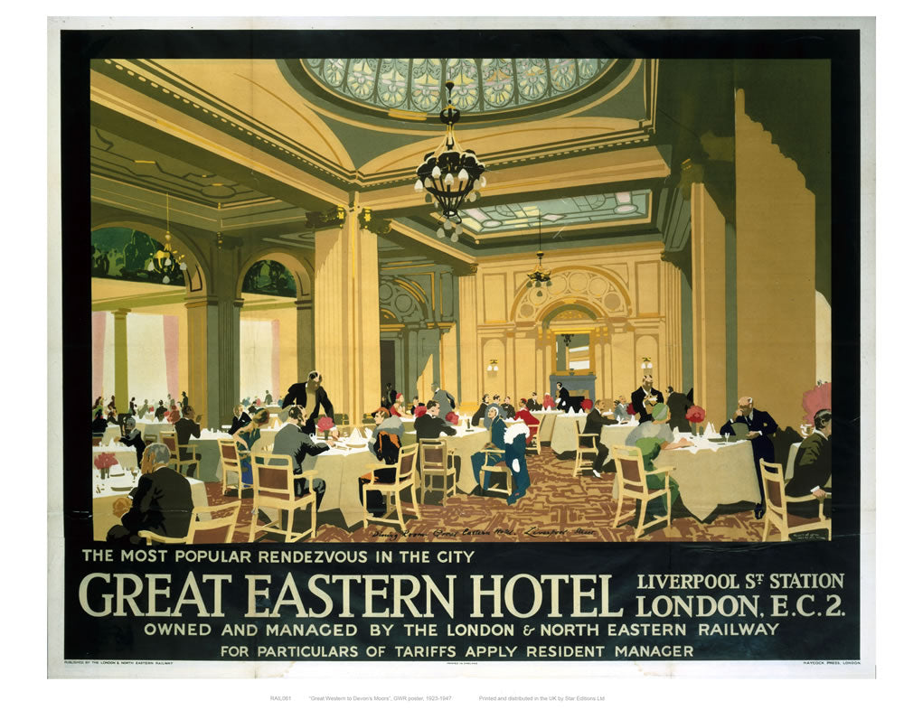 "Great Eastern Hotel 24"" x 32"" Matte Mounted Print"