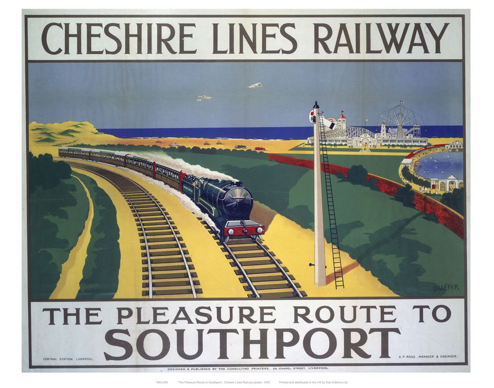 "Cheshire Lines Railway 24"" x 32"" Matte Mounted Print"