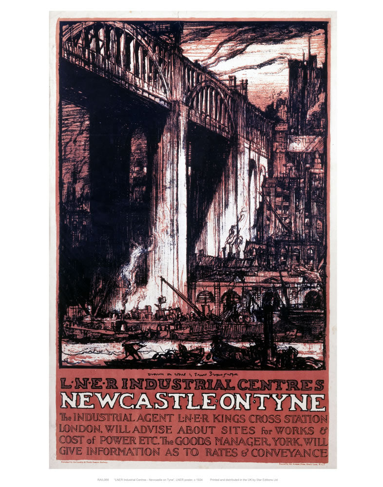 "Newcastle Engraving 24"" x 32"" Matte Mounted Print"