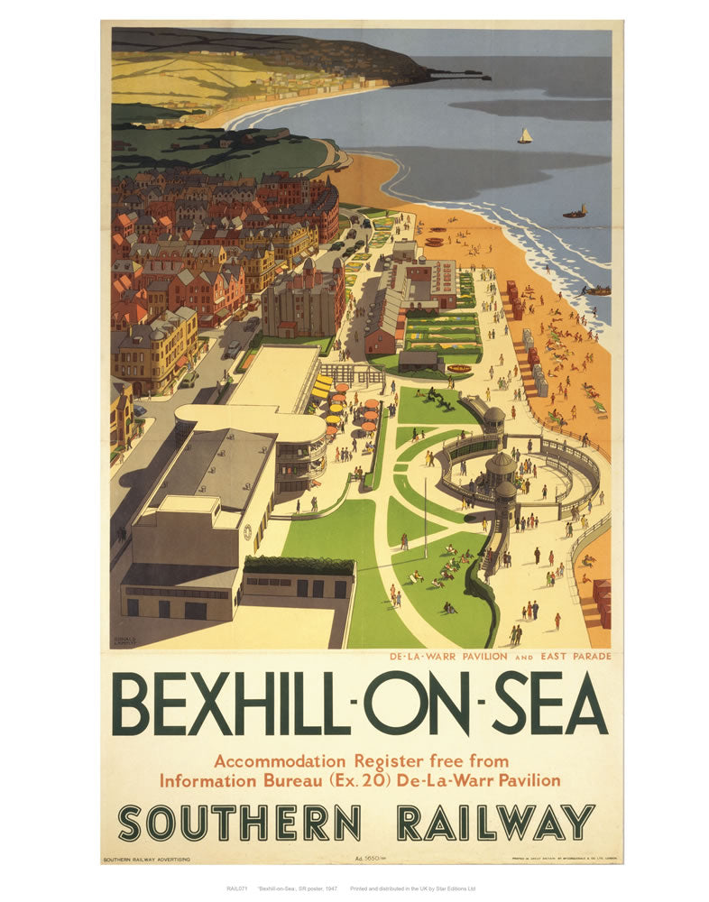 "Bexhill-on-sea from air 24"" x 32"" Matte Mounted Print"
