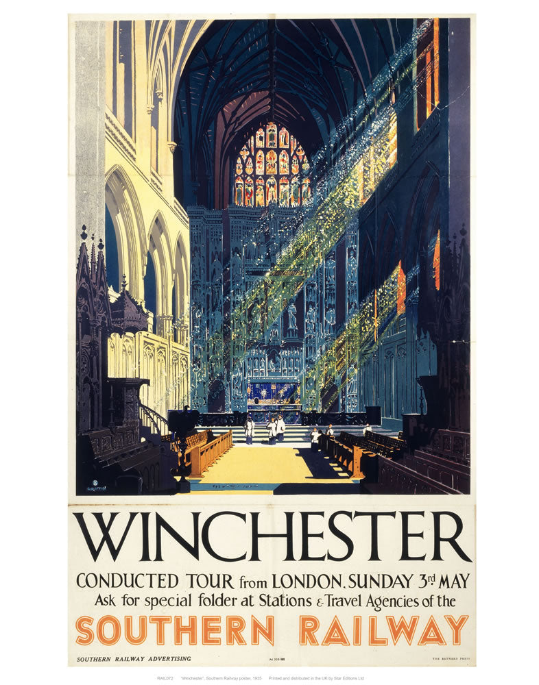 "Winchester Inside Cathedral 24"" x 32"" Matte Mounted Print"