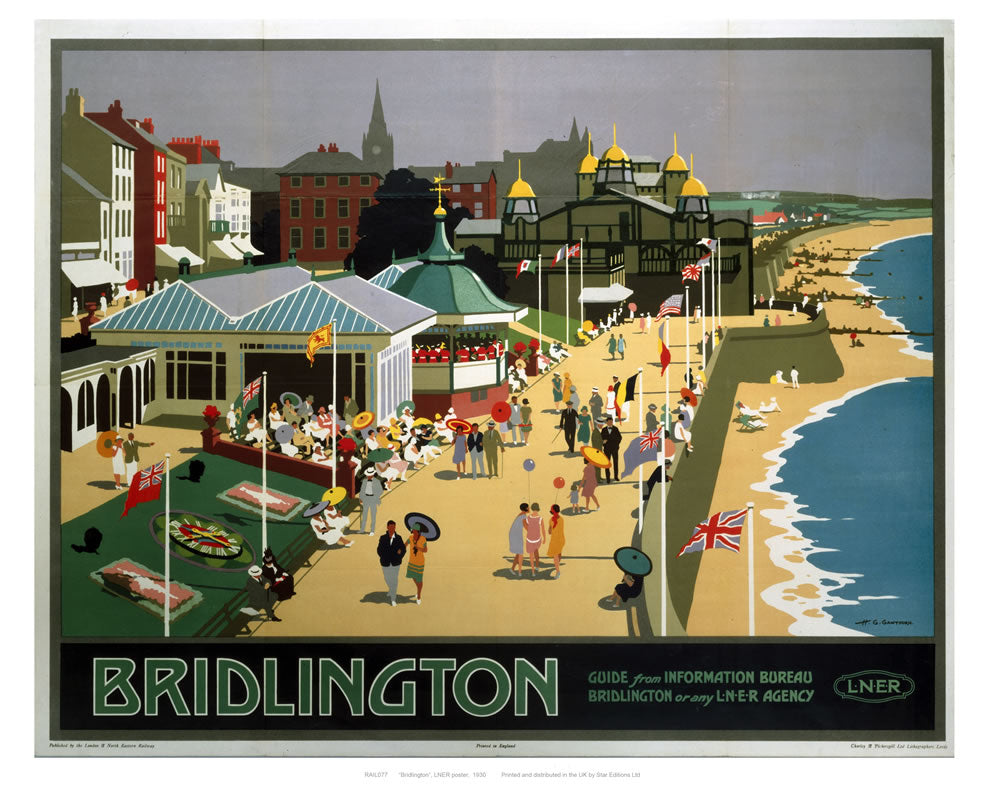 "Bridlington Sea Front 24"" x 32"" Matte Mounted Print"
