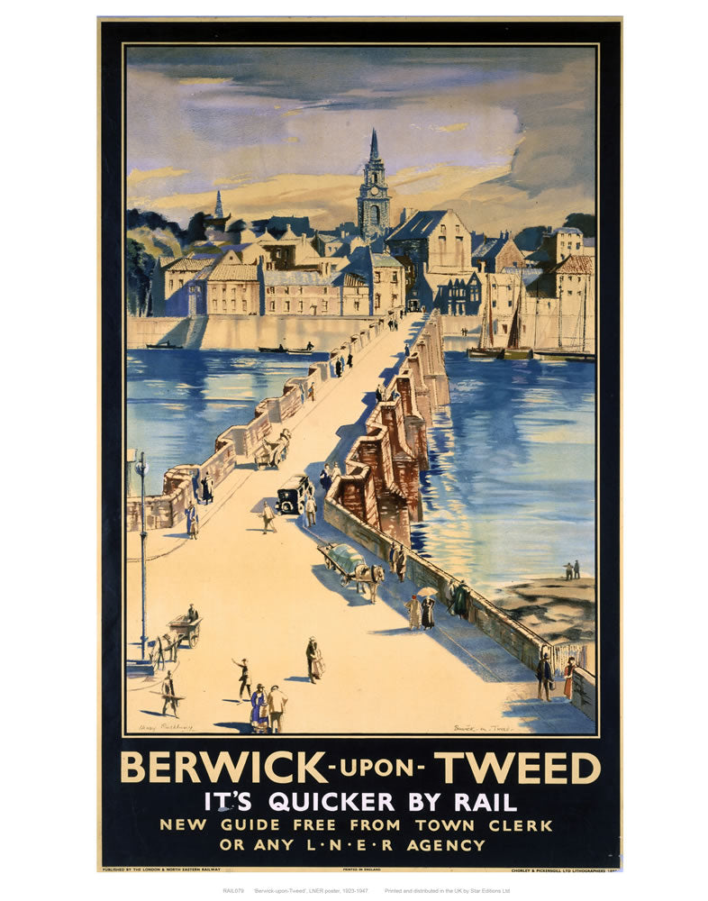 "Berwick-upon-tweed 24"" x 32"" Matte Mounted Print"