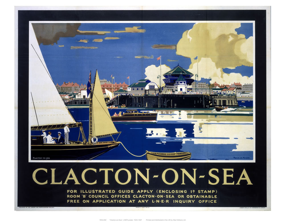 "Clacton on sea from boat 24"" x 32"" Matte Mounted Print"