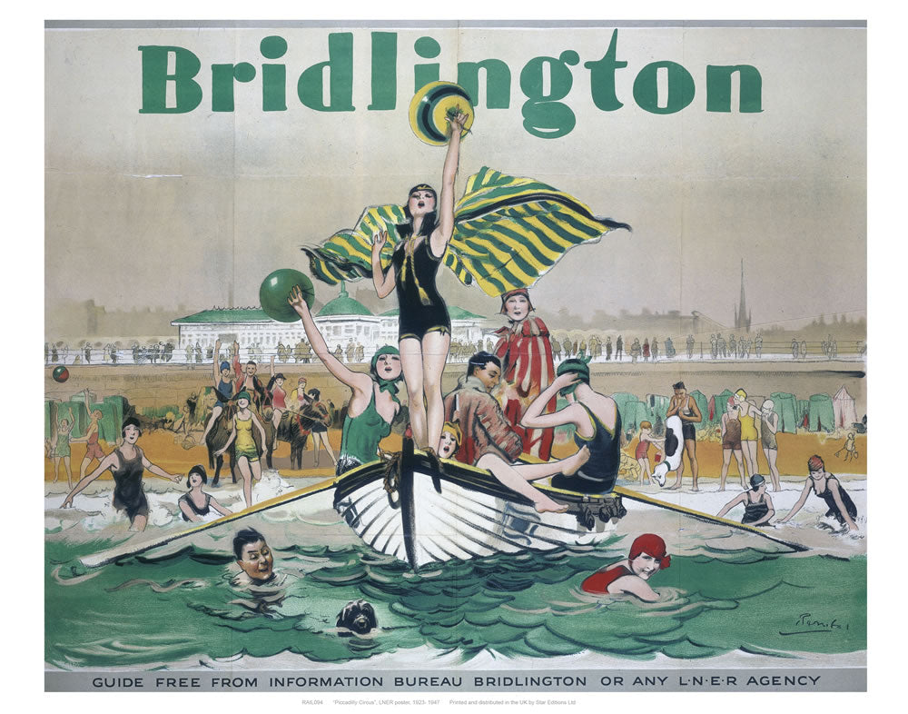 "Bridlington Boats and Balls 24"" x 32"" Matte Mounted Print"