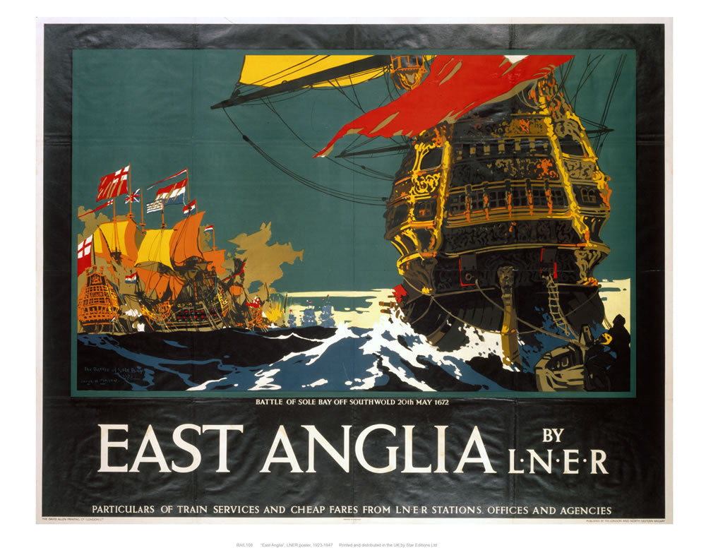 "East Anglia by liner 24"" x 32"" Matte Mounted Print"