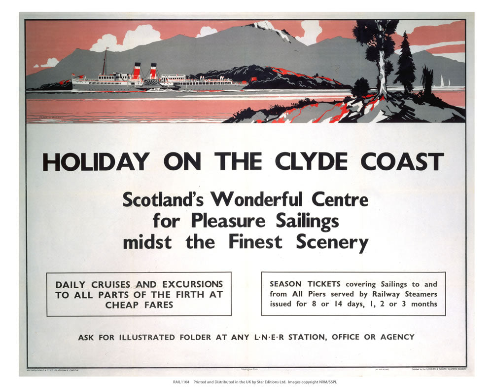 "Holiday on the Clyde Coast 24"" x 32"" Matte Mounted Print"