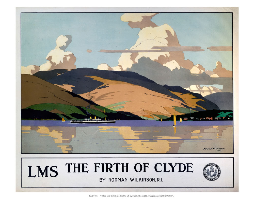 "The Firth of Clyde 24"" x 32"" Matte Mounted Print"