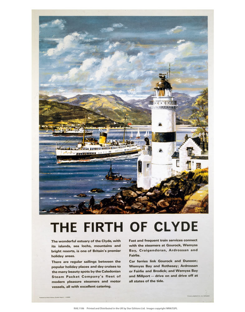 "Firth of Clyde Information 24"" x 32"" Matte Mounted Print"