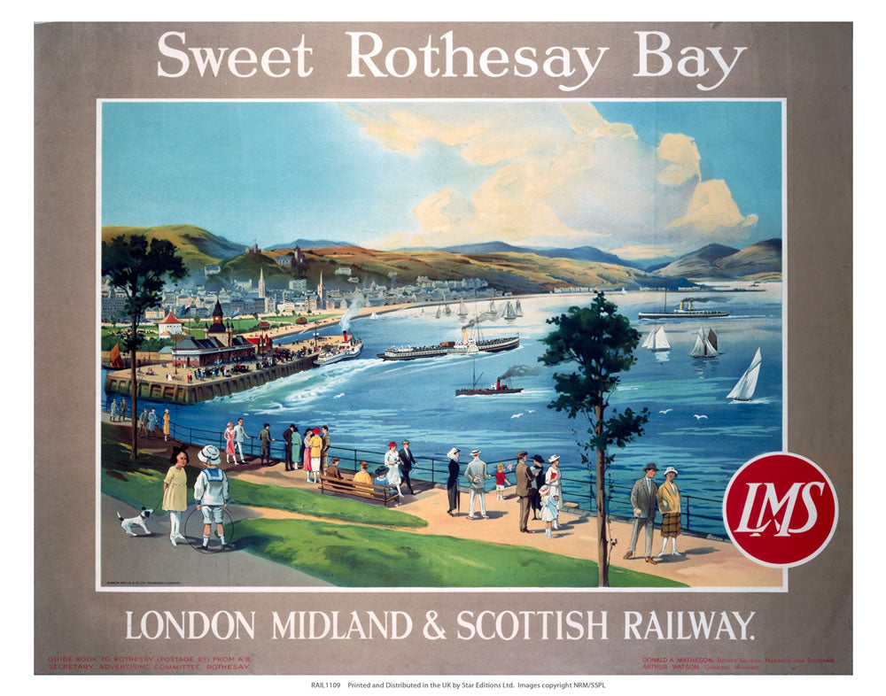 "Rothesay Bay 24"" x 32"" Matte Mounted Print"