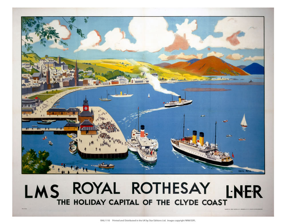 "Royal Rothesay 24"" x 32"" Matte Mounted Print"