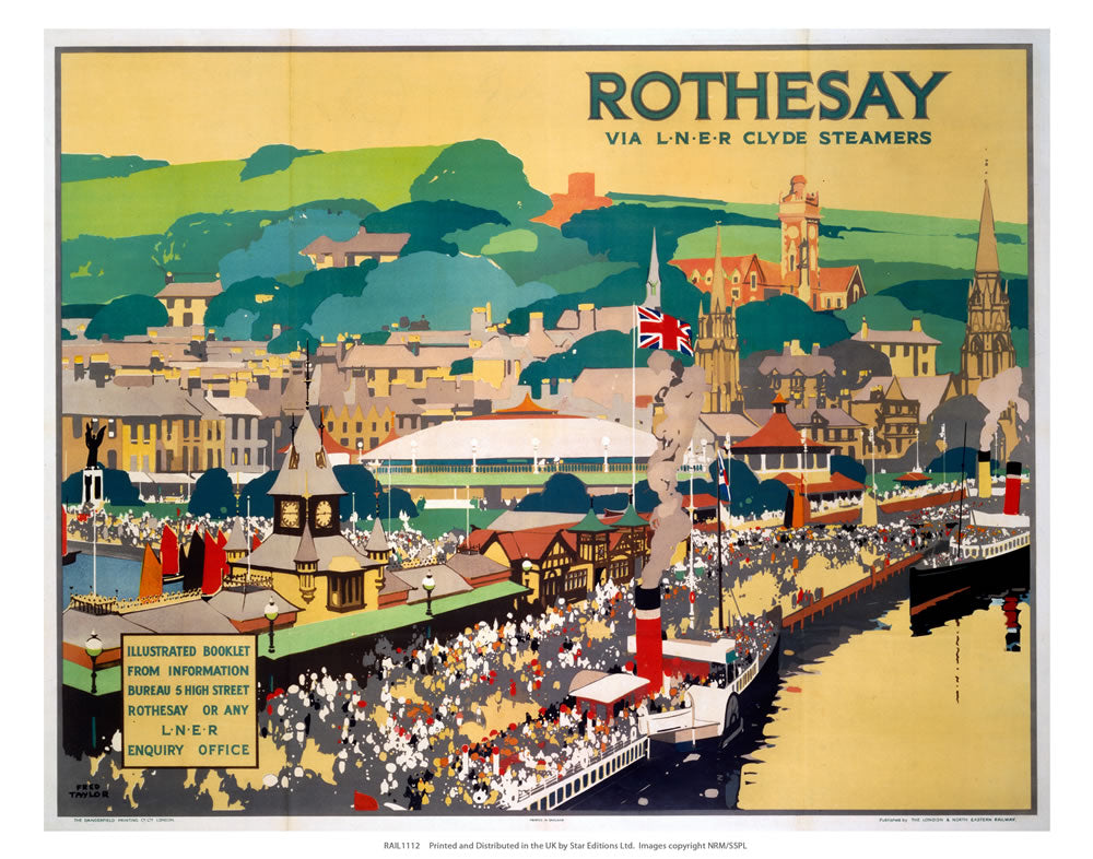 "Rothesay By LNER Steamers 24"" x 32"" Matte Mounted Print"