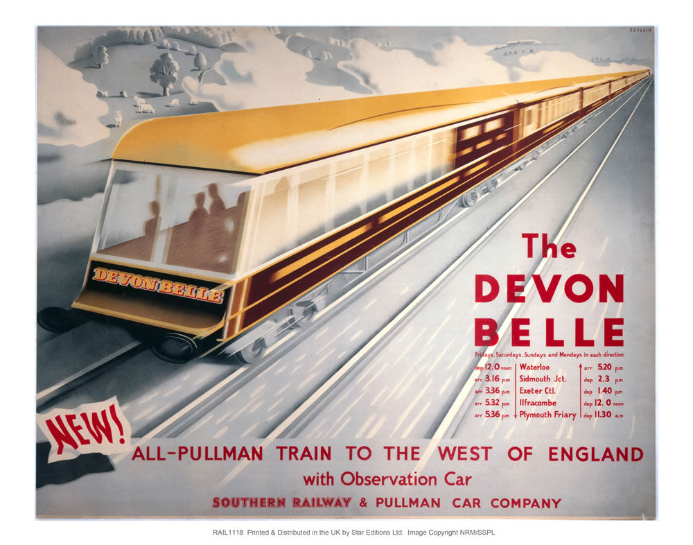 "The Devon Belle 24"" x 32"" Matte Mounted Print"