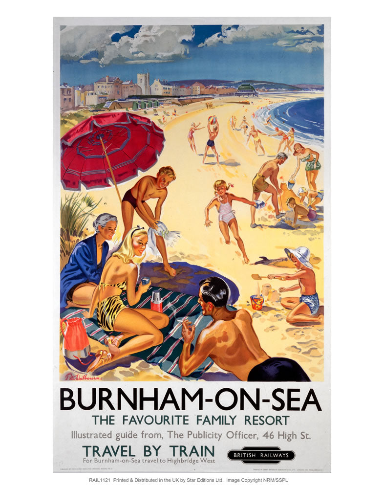 "burnham-on-sea The favorite family resort 24"" x 32"" Matte Mounted Print"