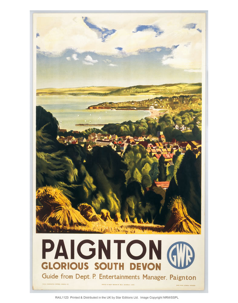"Paignton - Glorious south devon 24"" x 32"" Matte Mounted Print"
