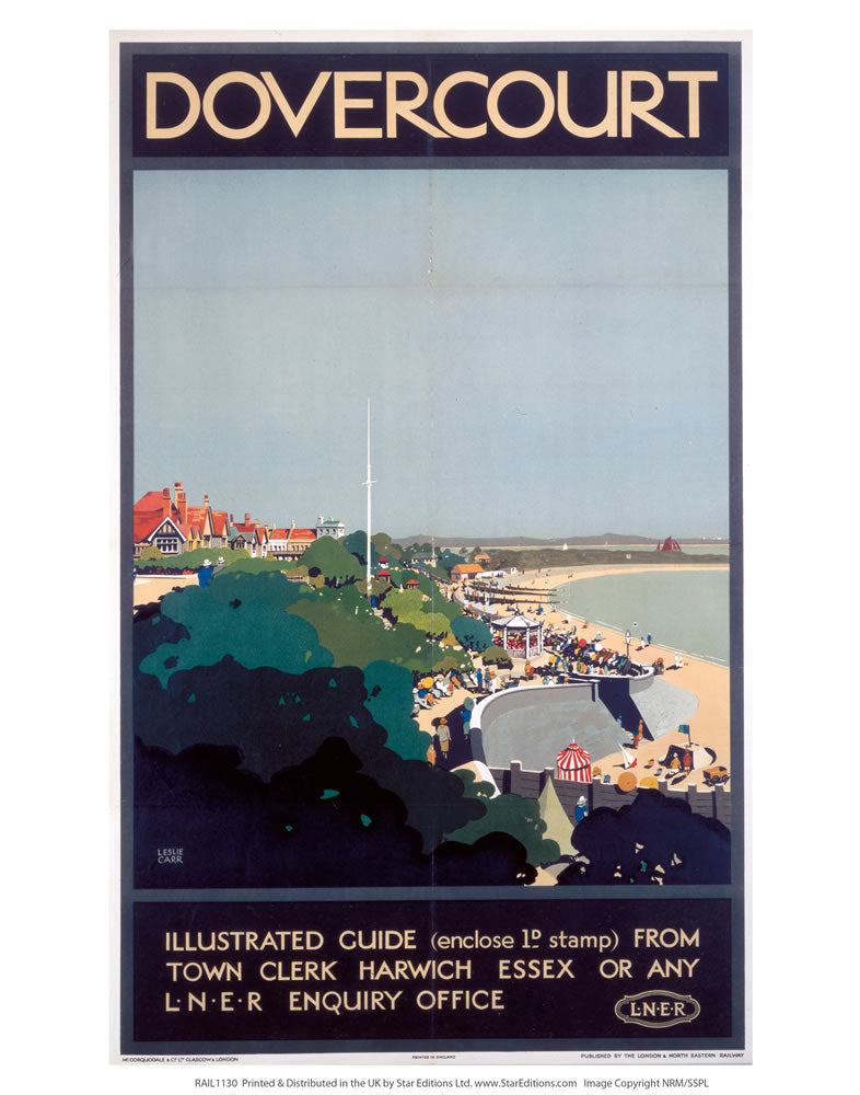 "Dovercourt illustrated guide 24"" x 32"" Matte Mounted Print"