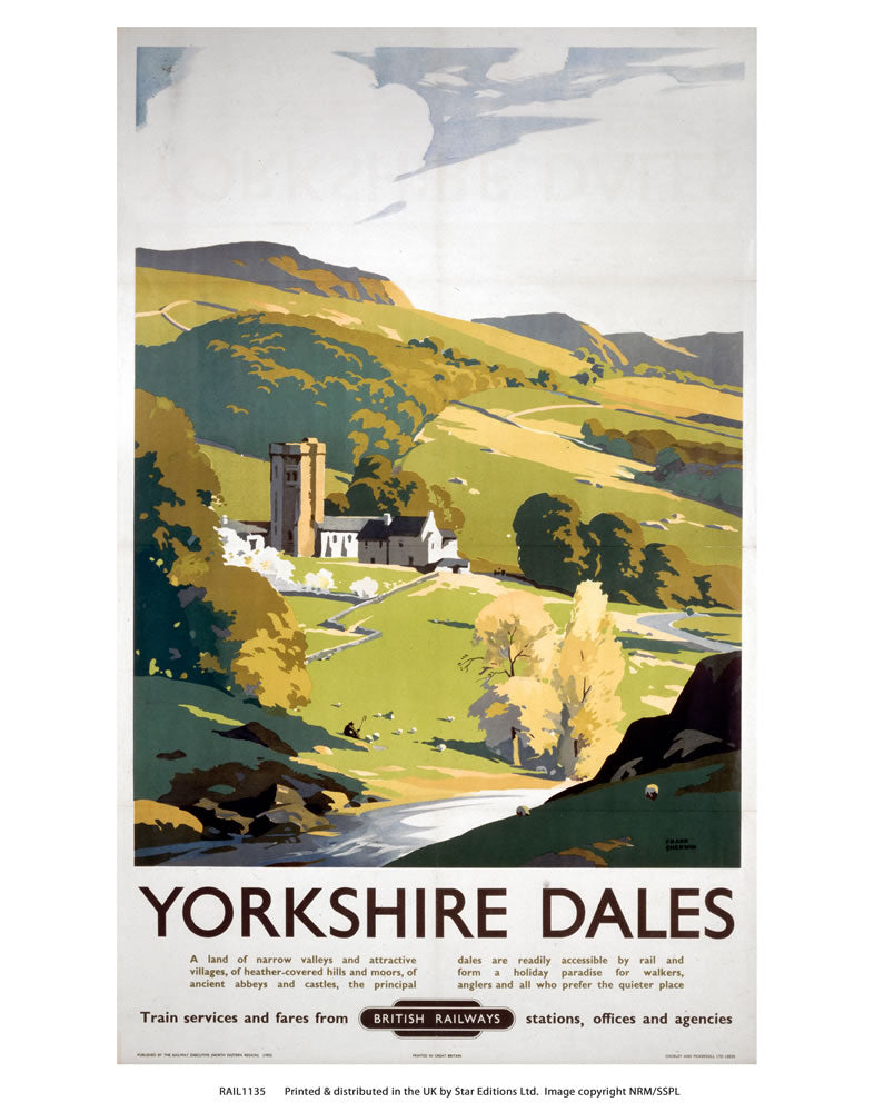 "Yorkshire Dales 24"" x 32"" Matte Mounted Print"