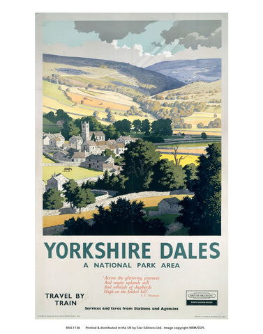 "Yorkshire dales - National park area 24"" x 32"" Matte Mounted Print"