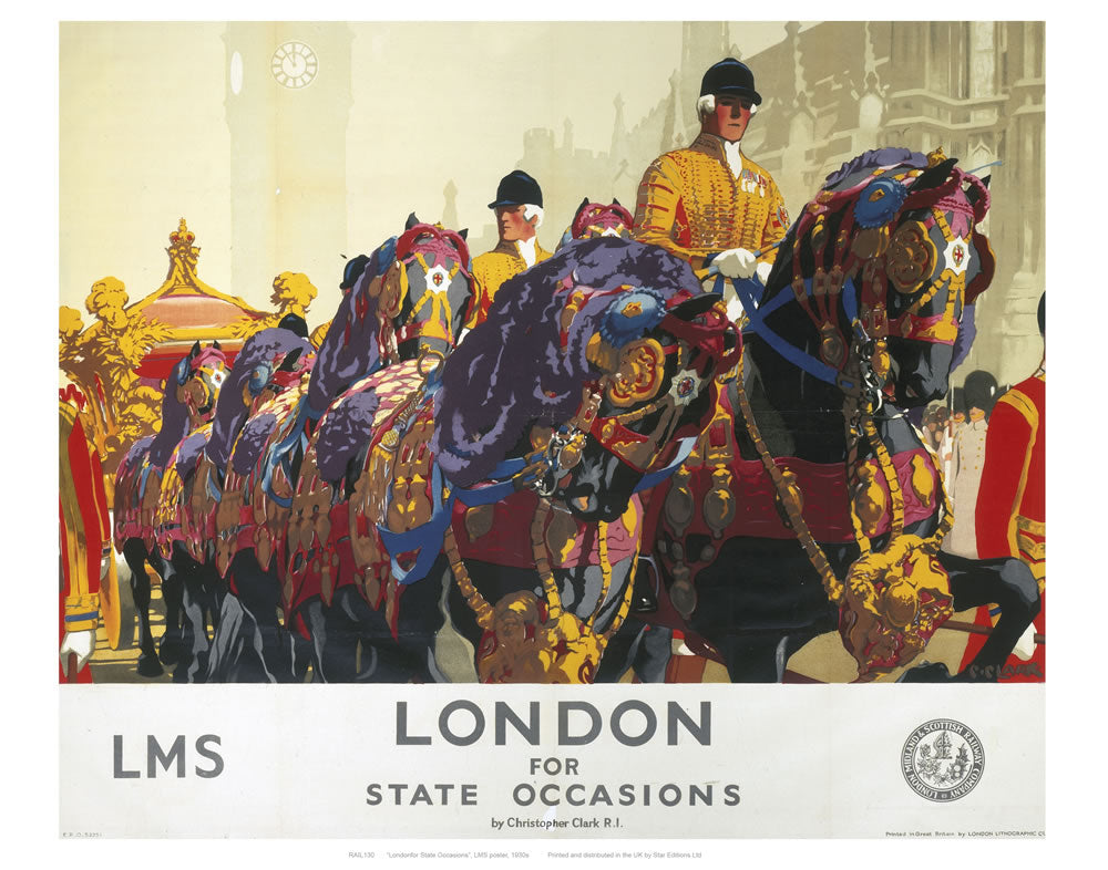 "London for state occasions 24"" x 32"" Matte Mounted Print"