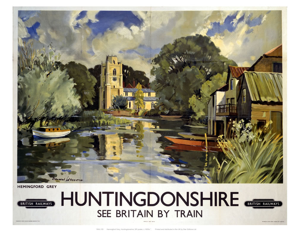 "Huntingdonshire 24"" x 32"" Matte Mounted Print"