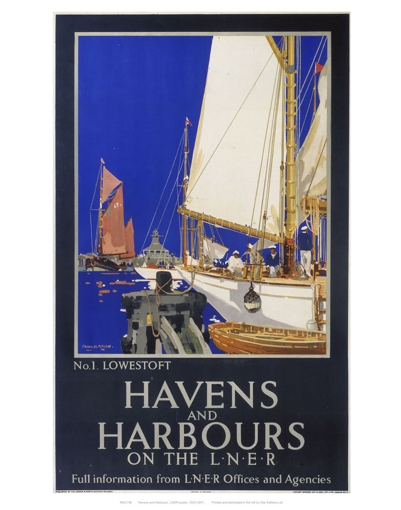 "Havens and harbours 24"" x 32"" Matte Mounted Print"