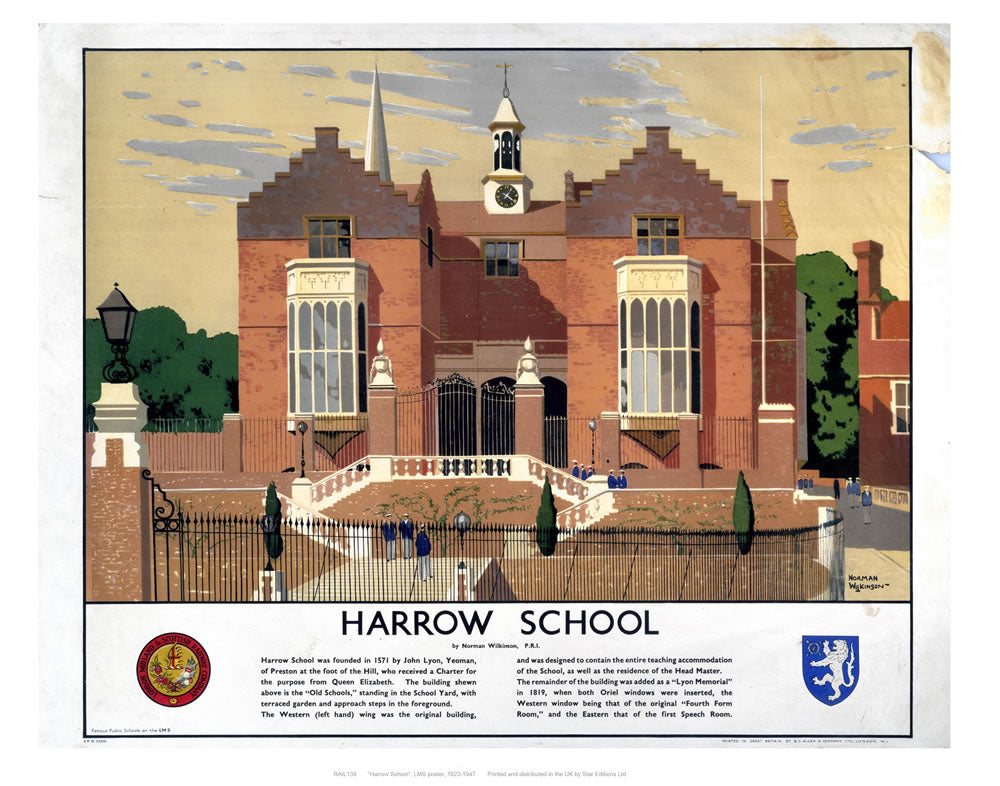 "Harrow school 24"" x 32"" Matte Mounted Print"