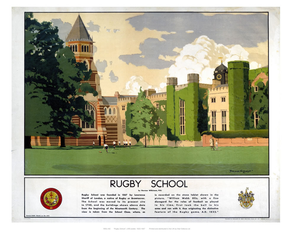 "Rugby school 24"" x 32"" Matte Mounted Print"