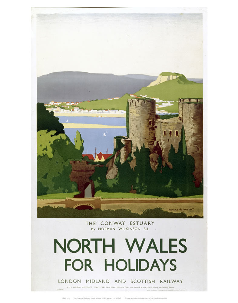 "North Wales for holidays 24"" x 32"" Matte Mounted Print"