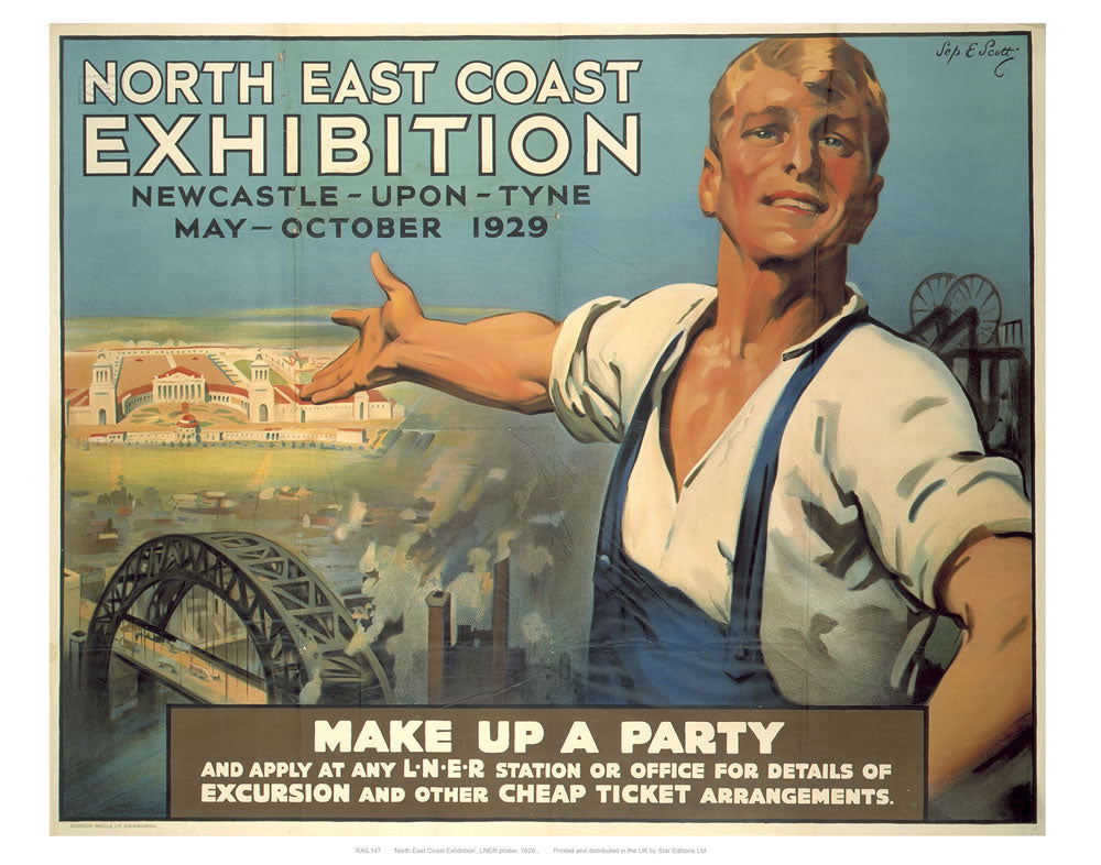 "North east coast exhibition 24"" x 32"" Matte Mounted Print"