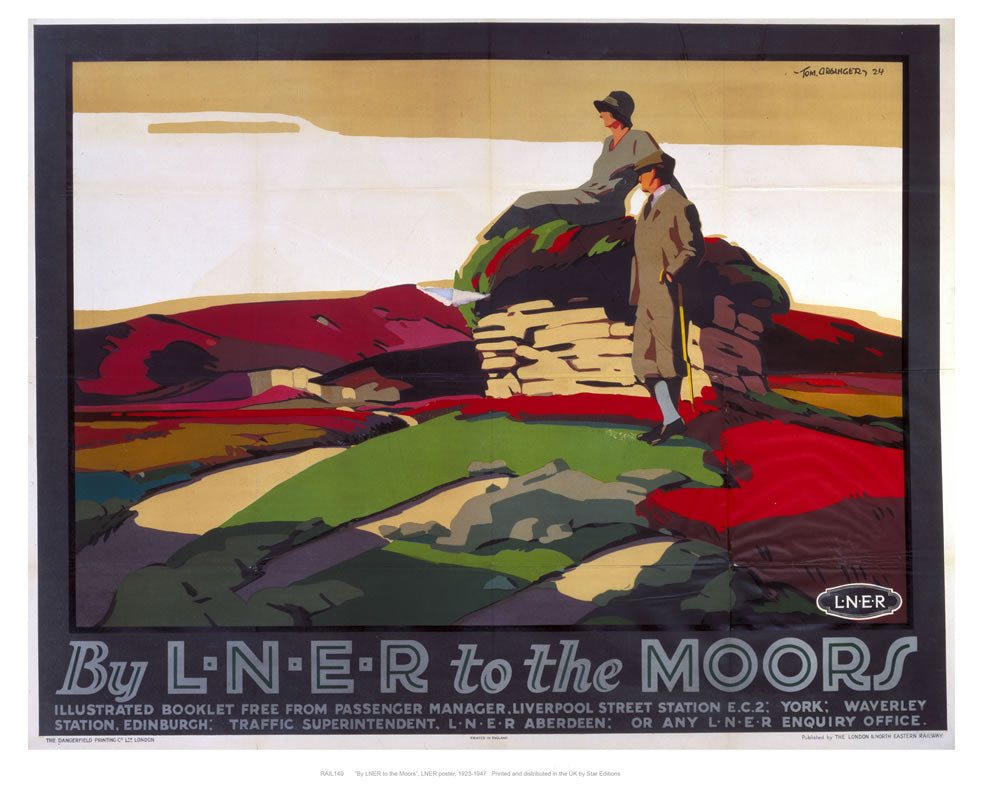 "By liner to the moors 24"" x 32"" Matte Mounted Print"