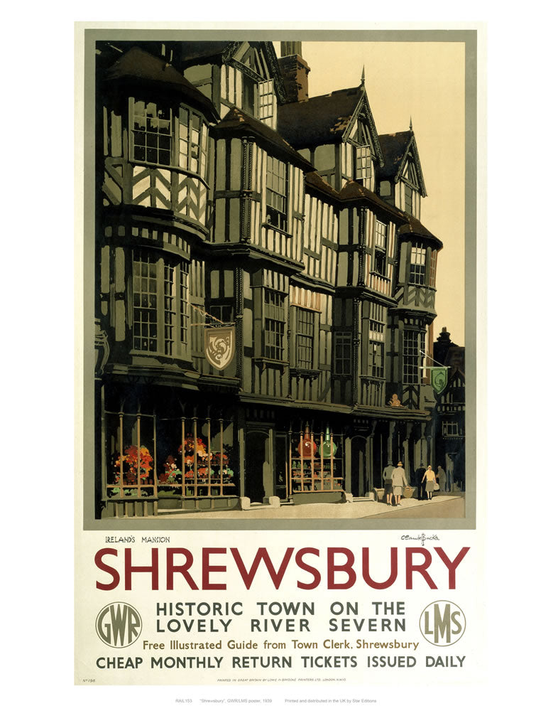 "Shrewsbury 24"" x 32"" Matte Mounted Print"