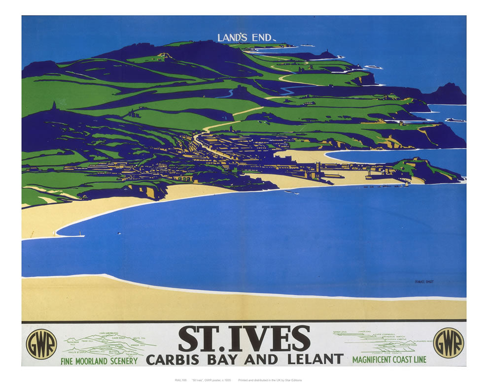 "St Ives 24"" x 32"" Matte Mounted Print"