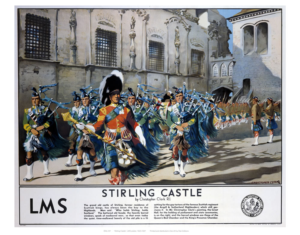 "Stirling castle LMS 24"" x 32"" Matte Mounted Print"