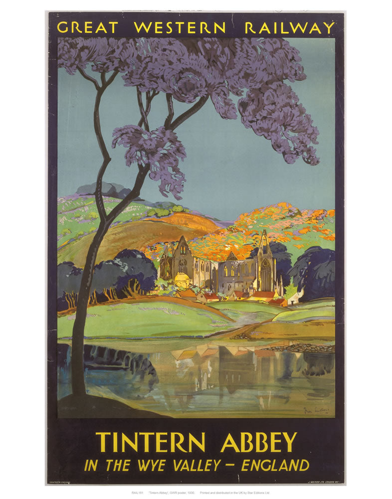 "Tintern Abbey 24"" x 32"" Matte Mounted Print"