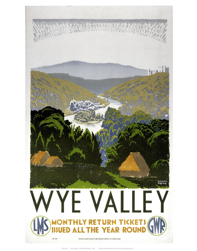 "Wye valley 24"" x 32"" Matte Mounted Print"