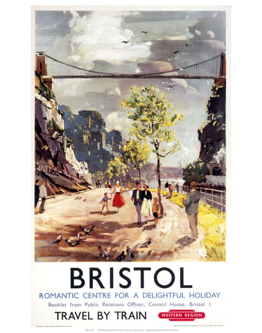"Bristol Romantic Centre 24"" x 32"" Matte Mounted Print"