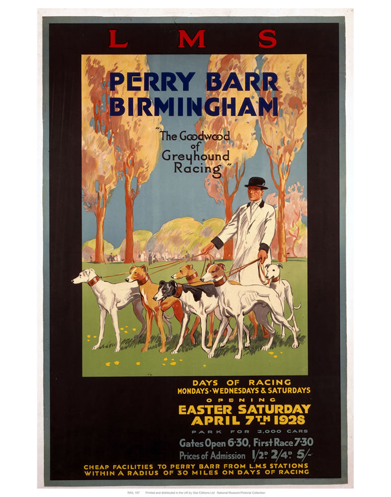 "Perry Barr Birmingham 24"" x 32"" Matte Mounted Print"
