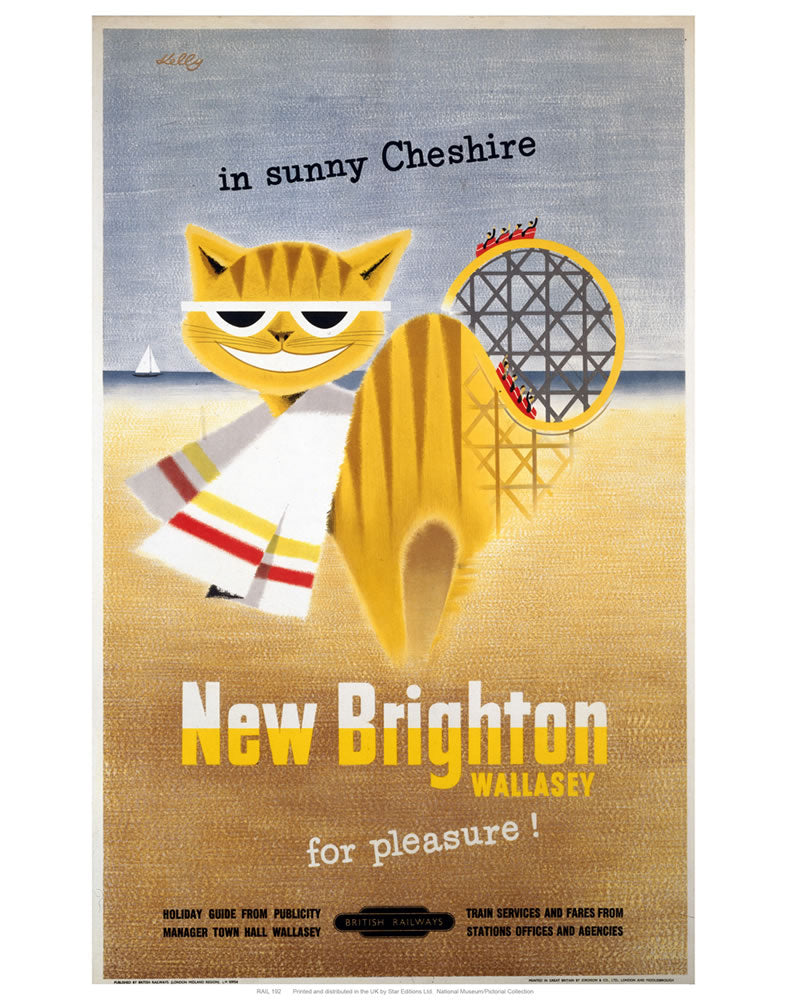 "New Brighton Cat 24"" x 32"" Matte Mounted Print"