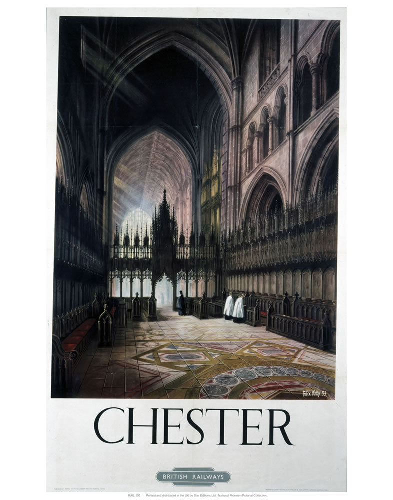 "Chester Inside Cathedral 24"" x 32"" Matte Mounted Print"