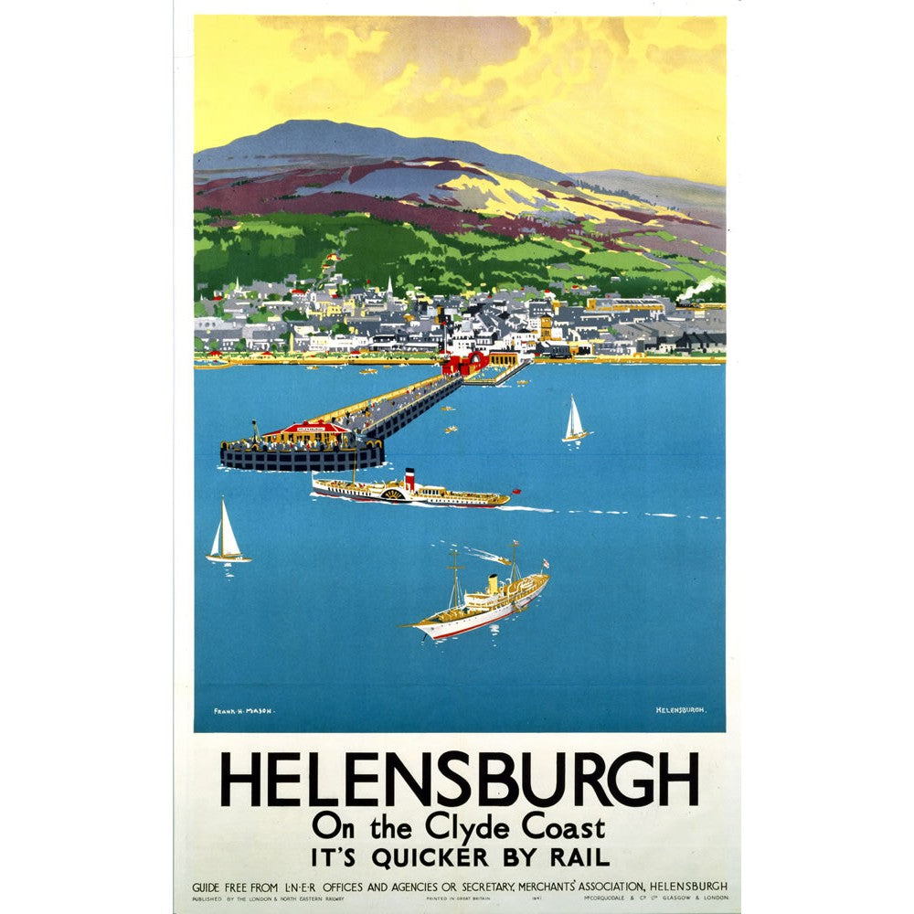 Helensburgh on the Clyde Coast 20cm x 20cm Mini Mounted Print