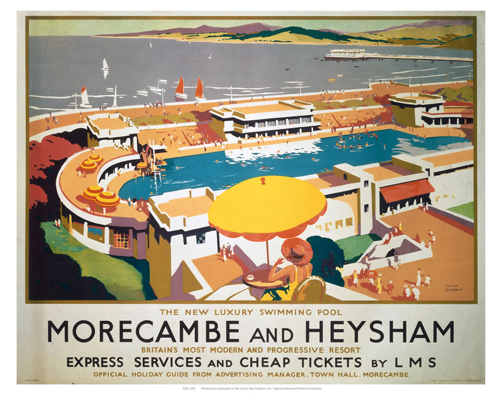 "Morecambe and Heysham 24"" x 32"" Matte Mounted Print"