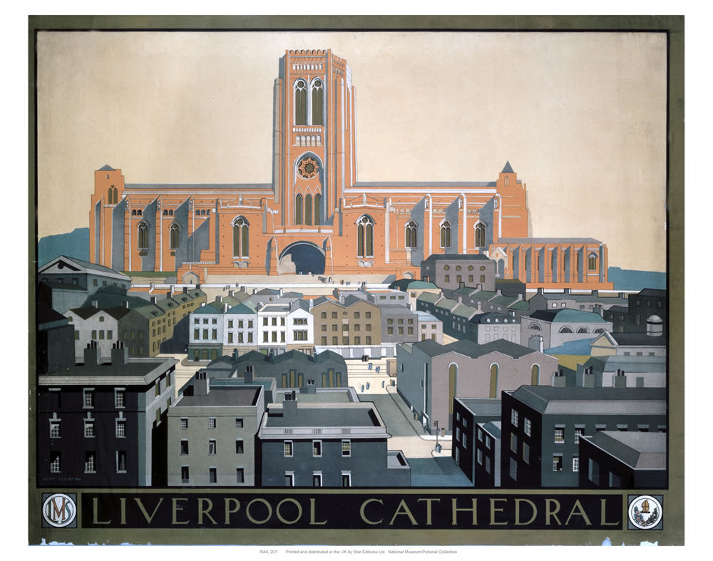 "Liverpool Cathedral 24"" x 32"" Matte Mounted Print"
