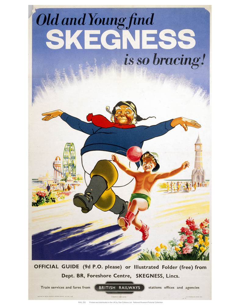 "Old and Young Skegness 24"" x 32"" Matte Mounted Print"