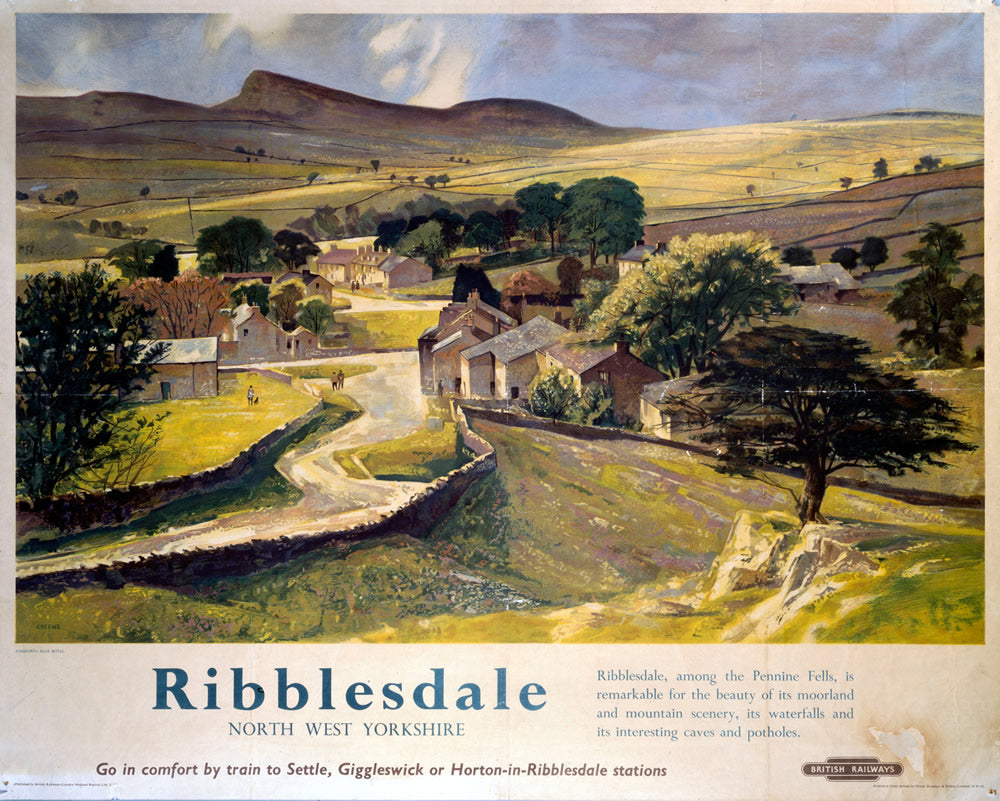 "Ribblesdale North West Yorkshire 24"" x 32"" Matte Mounted Print"