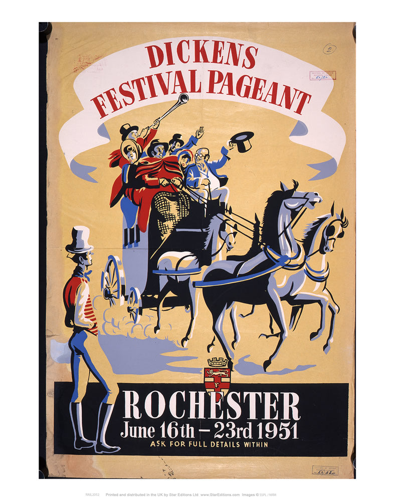 "Rochester - Charles Dickens Festival 24"" x 32"" Matte Mounted Print"