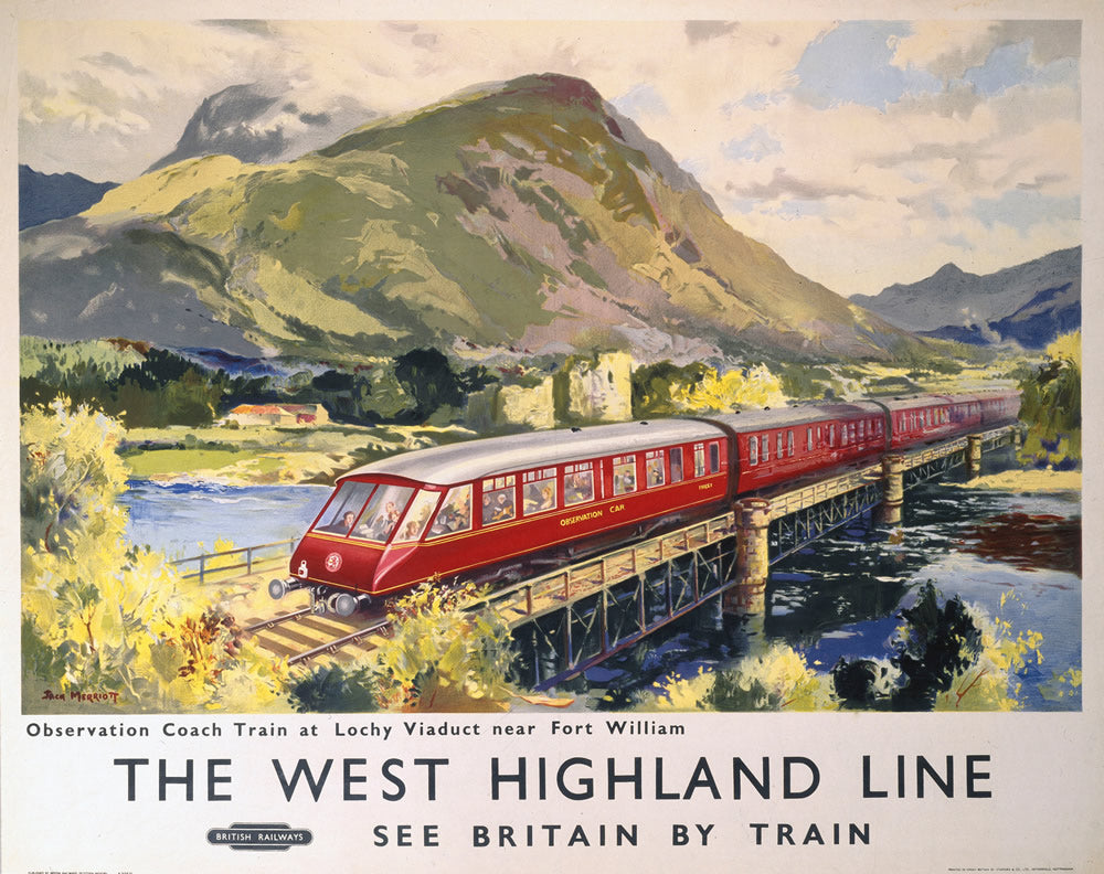 "The West Highland Line - Lochy Viaduct nr Fort William 24"" x 32"" Matte Mounted Print"